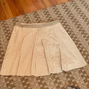 Banana republic khaki striped skirt
